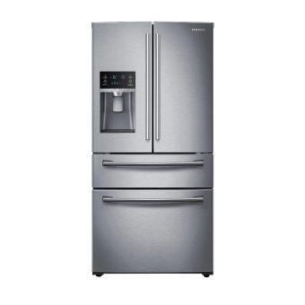 samsung 21.6 cu.ft 3 door french door refrigerator – white