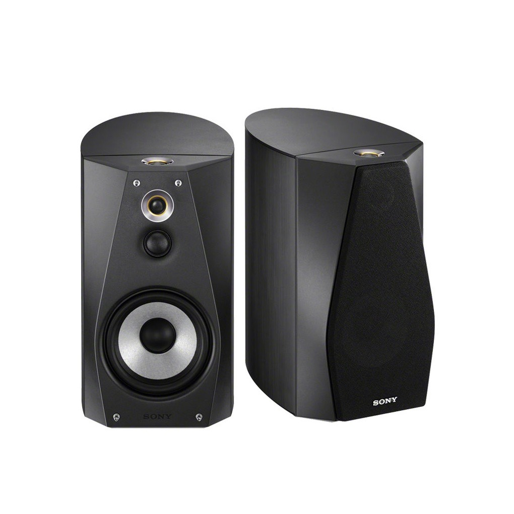 Sony Hi-Res Black Book Shelf Speakers SSHA1/B