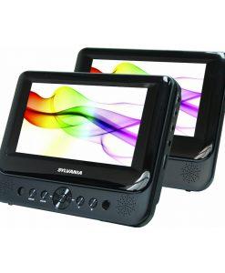"""Sylvania 7"""" Dual-Screen Portable DVD Player Black SDVD8750"""