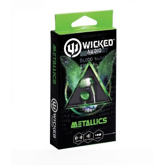 Wicked Metallics green in ear headphone WI1902