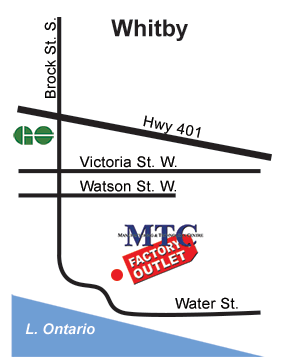 MTC Factory Outlet - Whitby Ontario - map