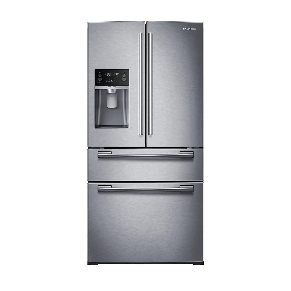 samsung 25 cu ft french door refrigerator stainless steel rf25hmedbsr aa mtc factory outlet. Black Bedroom Furniture Sets. Home Design Ideas