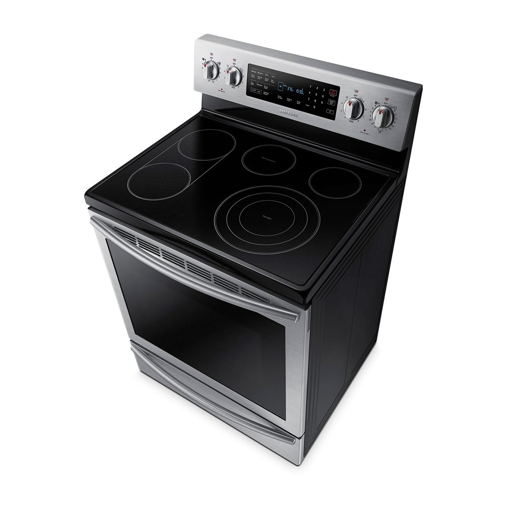Samsung 30 5 9 cu ft self clean freestanding smooth top Samsung induction range
